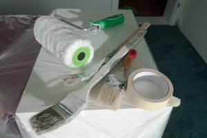 Umzug Maler und Verputz Werkzeug