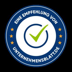 Unternehmensblatt-Badge-Blue